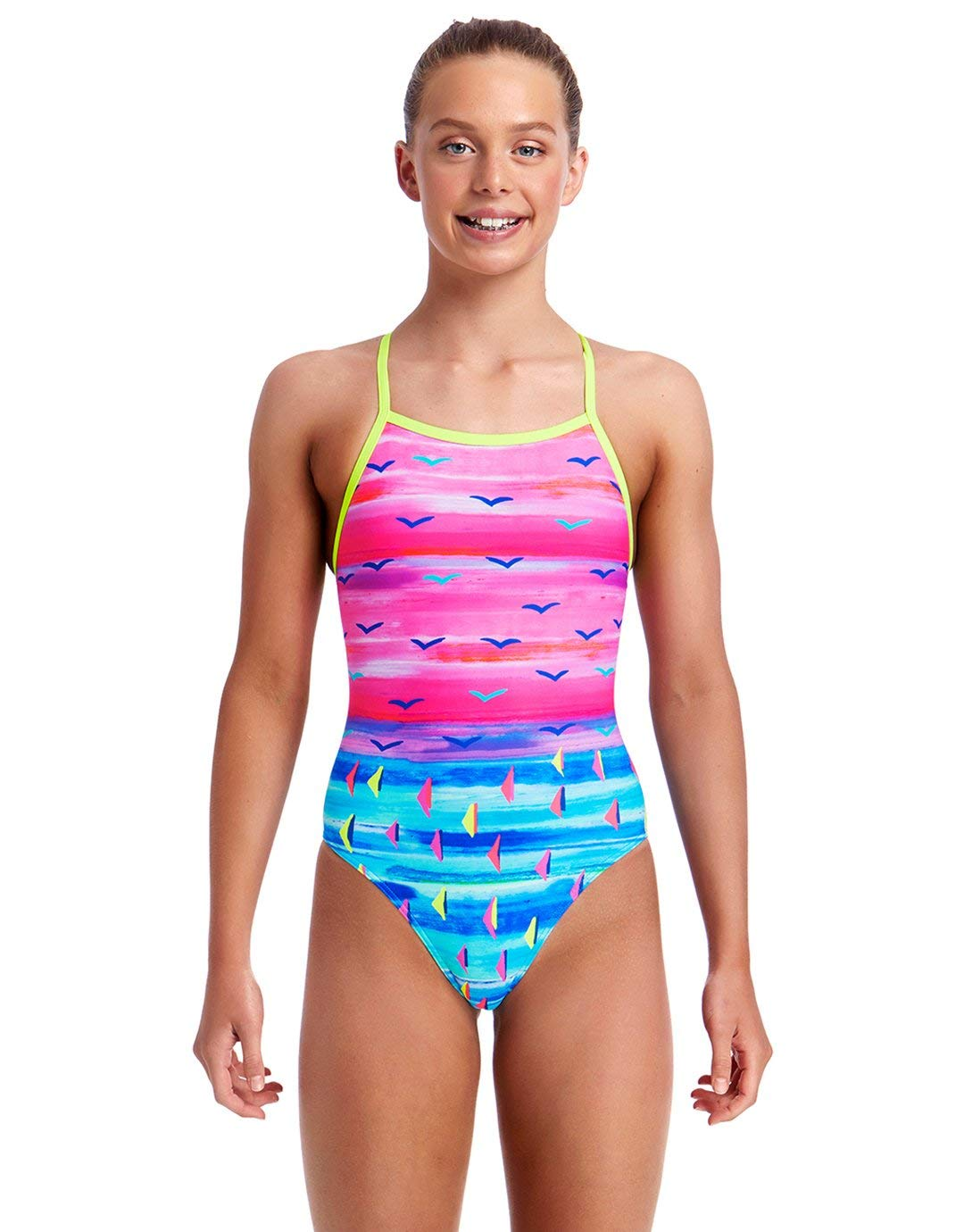 picked up new specials authentic Funkita Girls Regatta Royale Tie Me Tight Swimsuit