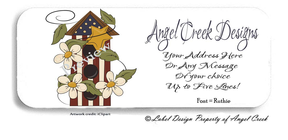 30 Birdhouse Personalized Address Labels