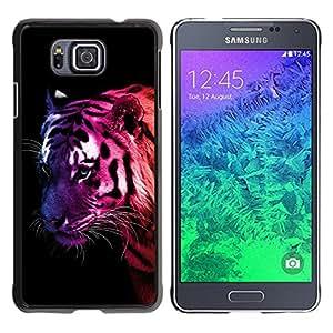 Paccase / SLIM PC / Aliminium Casa Carcasa Funda Case Cover para - Popular Tiger Neon Colors Stripes Wild Cat Feline Animal - Samsung GALAXY ALPHA G850