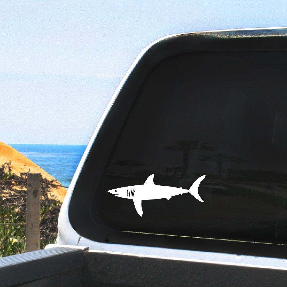 柔らかい Mako Shark魚species – Car – ビニールデカールステッカー – ホワイト8インチfor Car Windows Mako、Any非多孔性サーフェス B078B6W27S, ライフ&ビューティ:b4085051 --- senas.4x4.lt