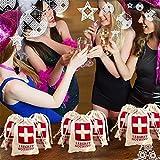 10pcs Wedding Hangover Kit Bags 10*15cm Cotton Wedding Favor Holder Bag Bachelorette Party Decorations Event Party Supplies