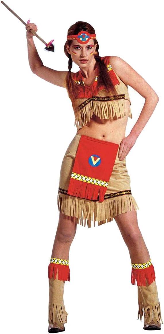 Indianer Damen Kost/üm f/ür die Indianerin