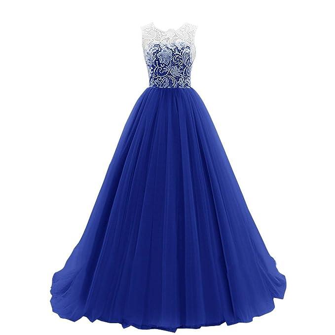 MEI&S Vintage mujer elegante vestido de Prom Larga Noche Maxi vestido de fiesta: Amazon.es: Ropa y accesorios
