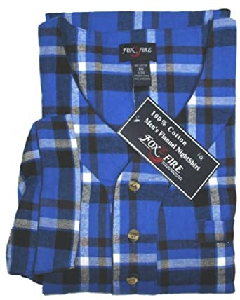 5ce41aee47 Big and Tall 100% Cotton Super Soft Flannel Night Shirts to 8X in Assorted  Plaids
