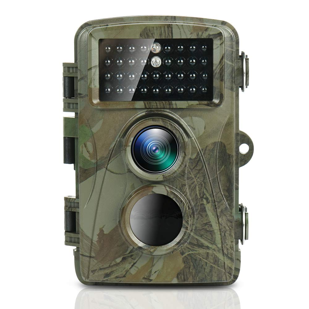 TEC.BEAN Trail Game Camera 1080P Full HD Waterproof Upgraded Infrared LEDs Scouting Cam for Wildlife Monitoring with 120 Detecting Range Motion Activated Night Vision LCD IR LEDs