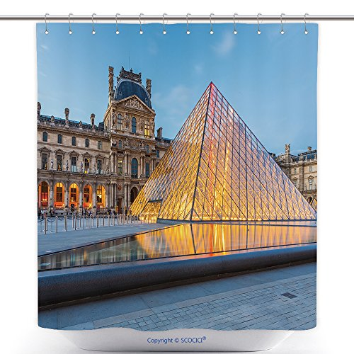 [Mildew Resistant Shower Curtains Paris France May The Louvre Museum In Paris Is One Of The World S Largest Museums And 338988182 Polyester Bathroom Shower Curtain Set With Hooks] (Fashion And Costume Museum Paris)