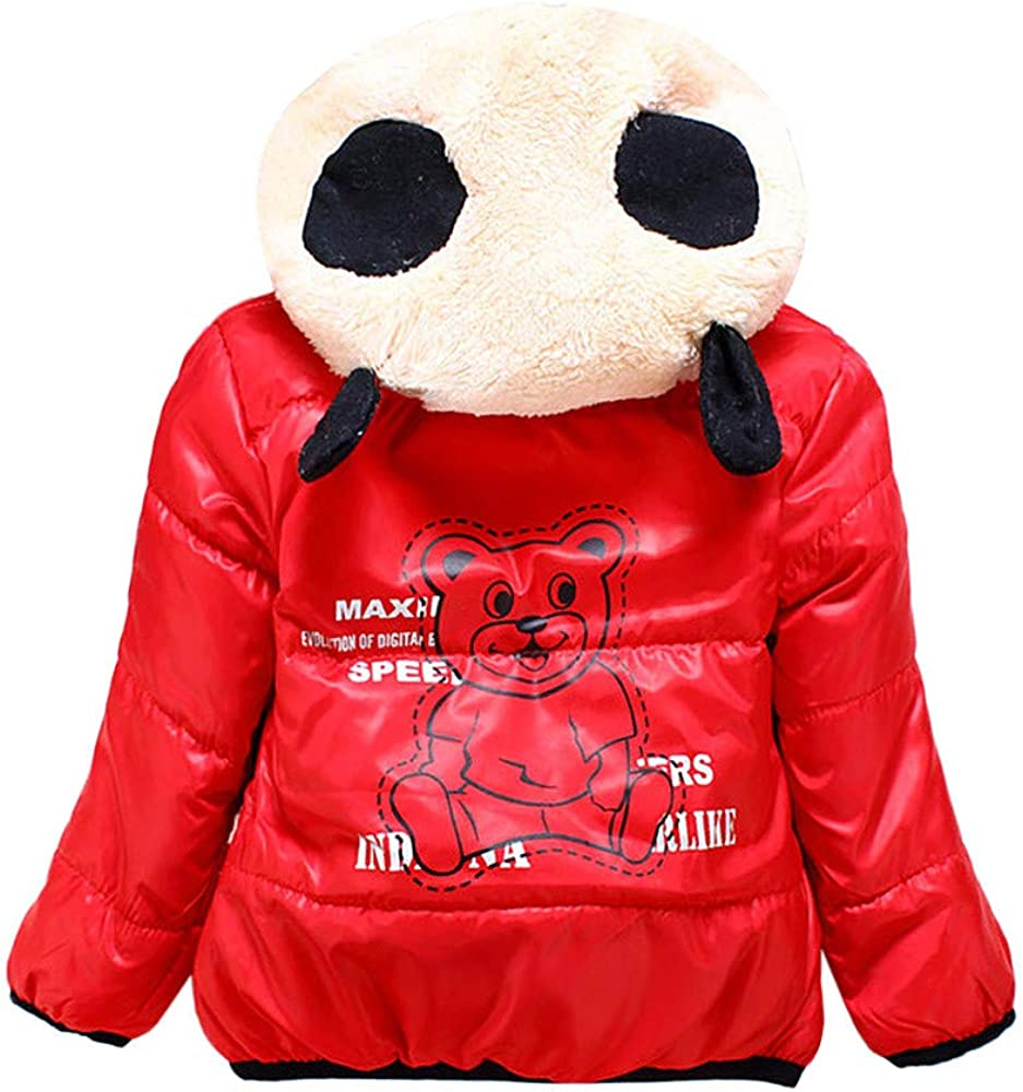 Lurryly❤Baby Girls Toddler Kids Fall Winter Coat Jacket Outerwear Snowsuit Hoodie 2-4T