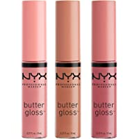 NYX PROFESSIONAL MAKEUP Butter Gloss - Angel Food Cake, Creme Brulee, Madeleine, Pack Of 3