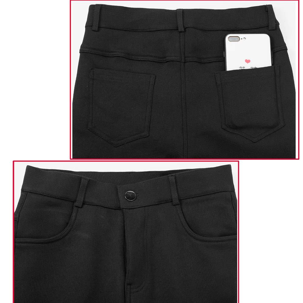 Amazon.com: Yehopere - Pantalones de invierno con forro ...
