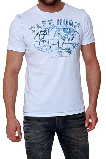 fcac496154 Cape Horn Maglietta HISTORICAL, uomo, Colore: Bianco, Taglia: XXL ...