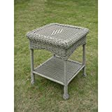 International Caravan 3188-AM-IC Furniture Piece Pvc Resin and Steel Outdoor Side Table