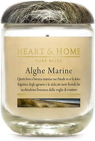 Heart & Home HHPXS05 Candela in Cera di soia Alghe Marine 115g