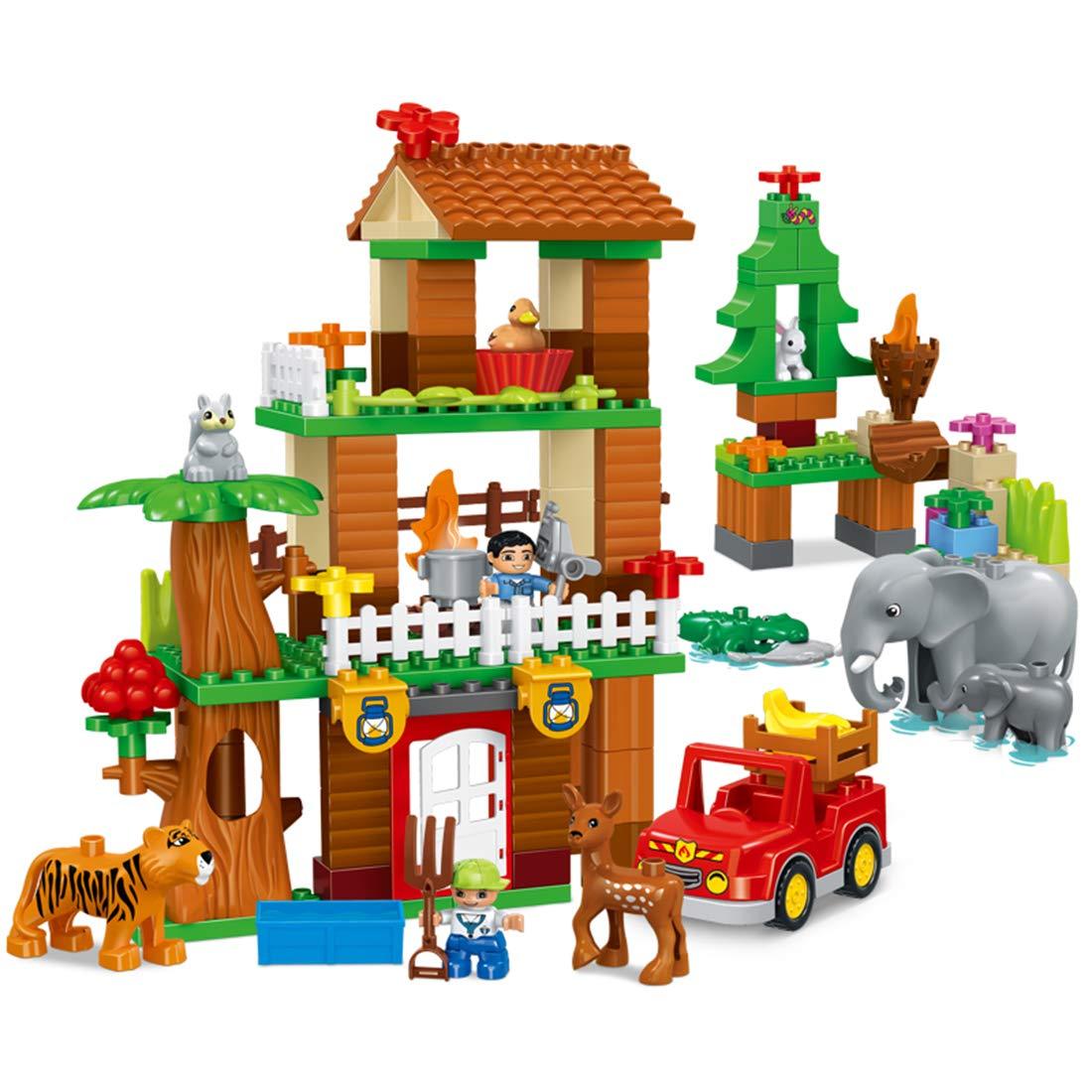 POWER DIY Gebäude Modell Bausteine Bausteine Bausteine Thema Dschungel Abenteuer Szene Lernspielzeug - Kinderspielzeug (138PCS) 6f354f