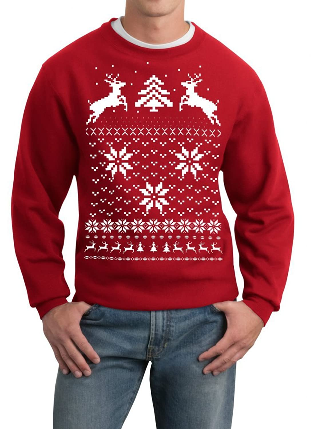 Description. Even reindeer are plagued with embarrassing dingleberries all the way through the Vacation season! This unsightly Christmas sweater includes a reindeer with brown cotton balls striking from his Heinie and sweet cane piping at the sleeves, collar, and waist.