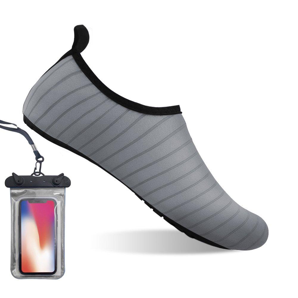 Bopika Zapatos de Verano Calzado de Playa Comodos Agua Zapatos para los Hombres Las Mujeres