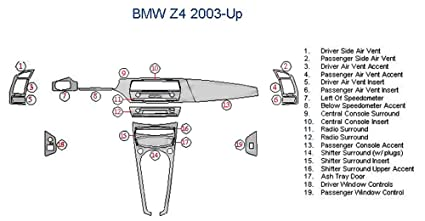 Amazoncom Bmw Z4 Dash Trim Kit Zebra Rosewood Automotive
