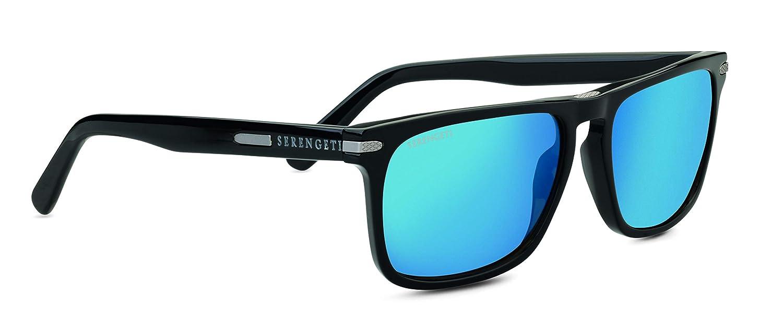 d60404d42c Amazon.com   Serengeti Sunglasses Carlo Large Shiny Black Polarized 555Nm  Blue 8692   Sports   Outdoors