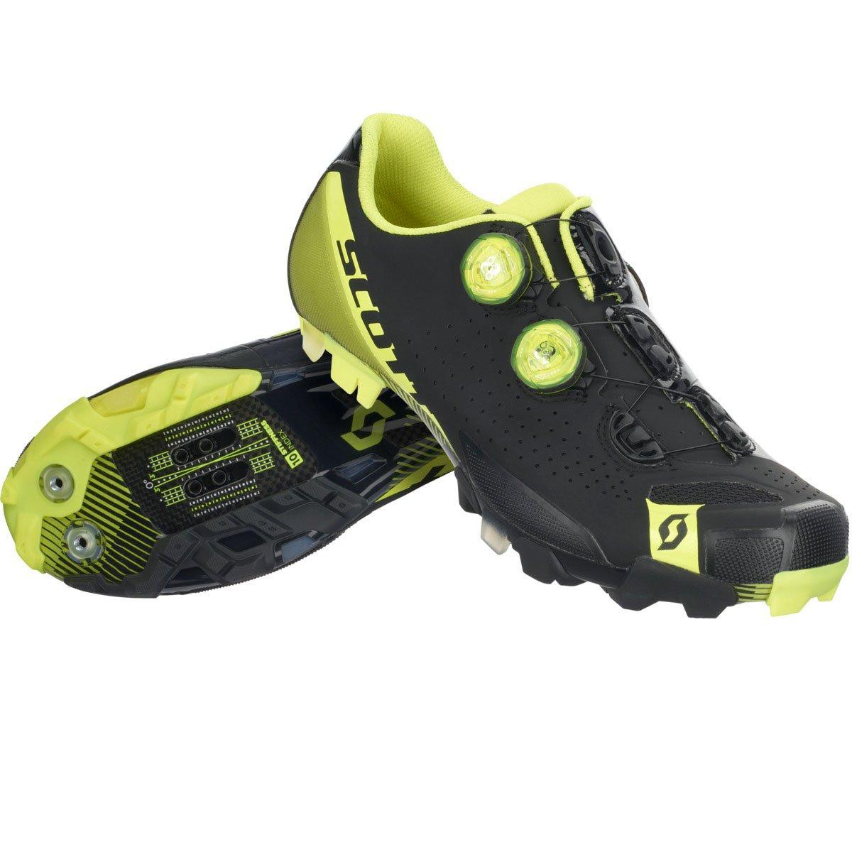 スコット2017メンズMTB RCバイク靴 – 251826 B01LX9AJMV  Matt Black/Gloss Neon Yellow 39
