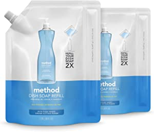 Method Gel Dish Soap Refill, Sea Minerals, 36 Ounces, 2 pack, Packaging May Vary