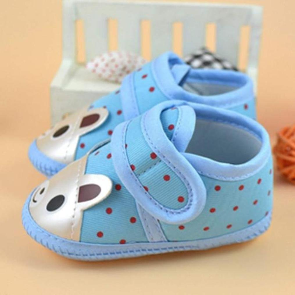 3-6 Months, Blue Exteren Infant Toddler Baby Boy Girl Toddler Warm Soft Crib Sole Shoes Canvas Sneaker
