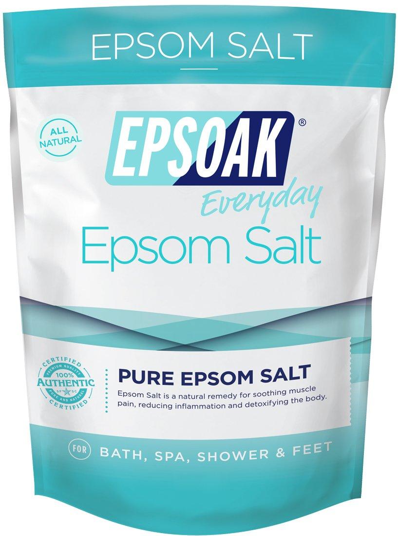Epsoak Everyday Epsom Salts - 2 lbs. Detox + Cleanse Bath Salts - Scented Epsom Salt for Bath, Spa, Shower Feet San Francisco Salt Company