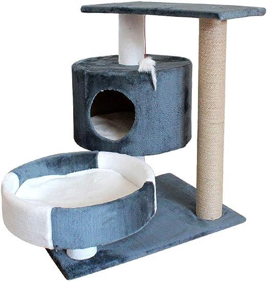 ZWS Árboles para gatos Gato Grande Árbol Gato Gato Marco de Escalada Torre del Gato con rasguño Rascarse Subir Publicar Actividad Juguetes Cama de Gato Casa: Amazon.es: Hogar