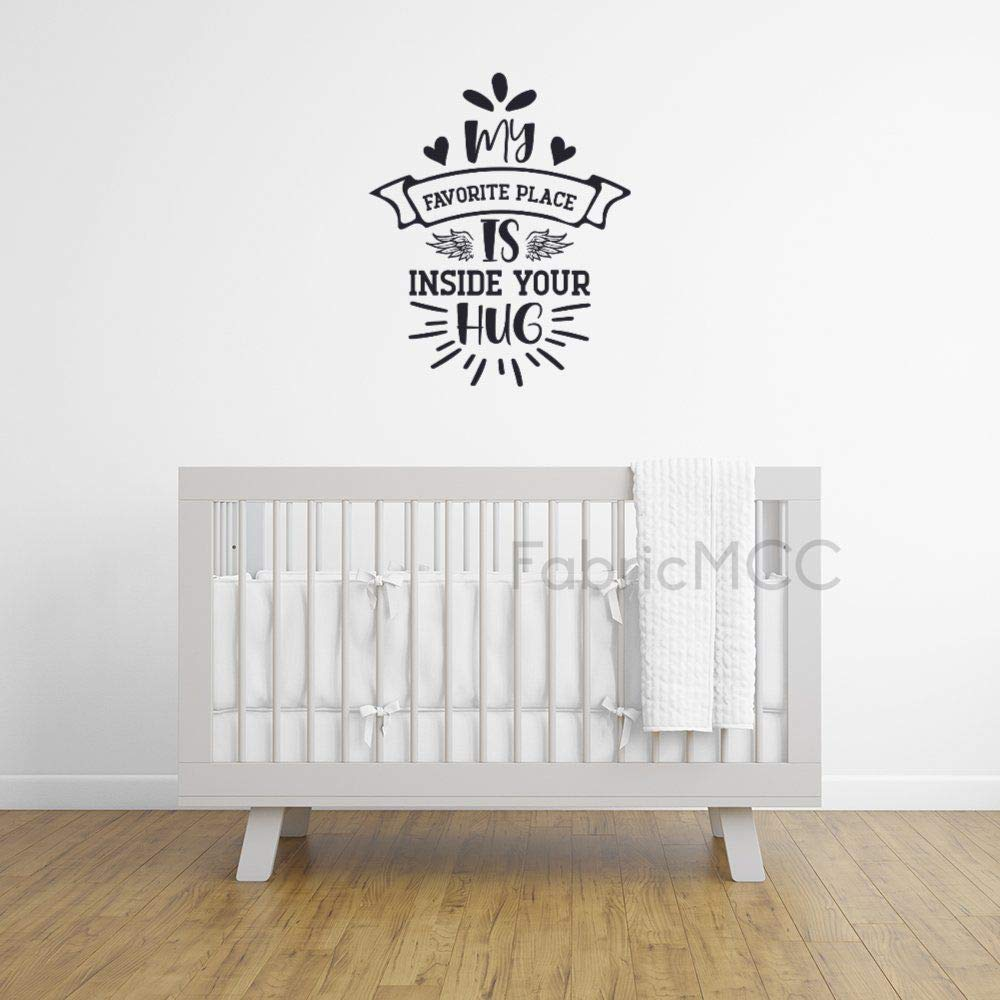 My Favorite Place is Inside Vinyl Wall Decals 20 Inch Wall Decor Family Inspirational Wall Stickers Quotes Stickers Decor for Living Room Bedroom Nursery