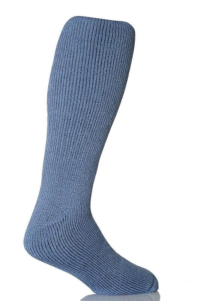 1Paar Herren ORIGINAL Lange Thermo Winter Warm Wärme Inhaber Socken Größe 6–11UK, 39–45EUR DENIM 39–45EUR DENIM