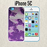 iPhone Case Purple Rusty Metal Wall for iPhone 5c Plastic Black (Ships from CA) With Free .33 mm Premium Tempered Glass Screen Protector