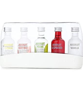 Absolut Vodka Miniatures Selection Gift Set (contains 5 x Assorted Absolut Vodka Miniatures) Raspberri
