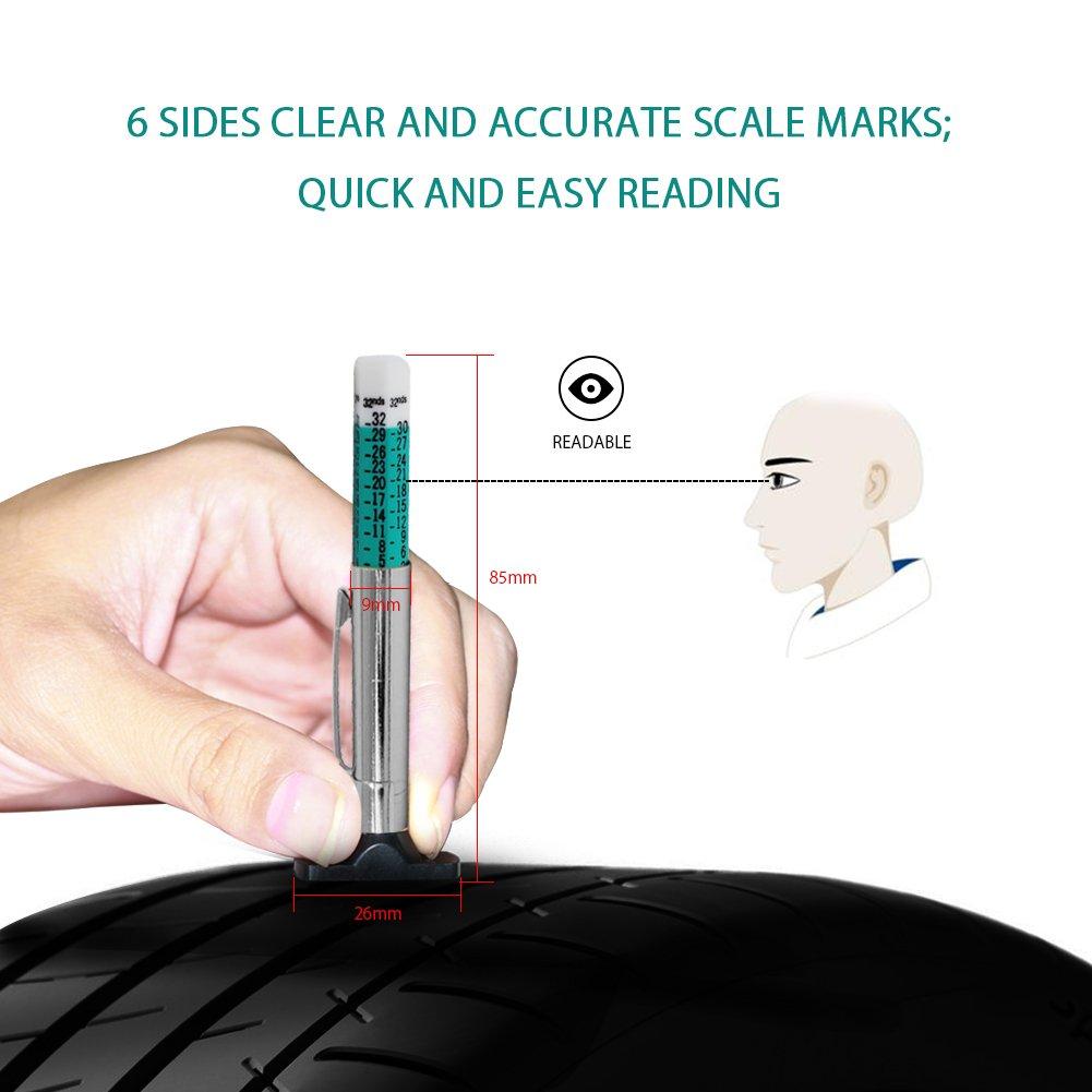 AZGIANT Tire Pressure Gauge,Full Car Tire Pressure Gauge Set Included Tread Depth Gauge Portable Tire Pressure Gauges Car Accessories