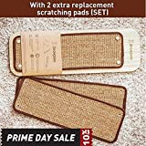 New Design Snowpaw Wooden Replaceable Cat Scratcher, Multi-angel Adjustable, Sisal Cat Scratcher Post, With Free Organic Catnip and WITH EXTRA 2PCS OF REPLACEMENT SCRATCHING PADS (SET)