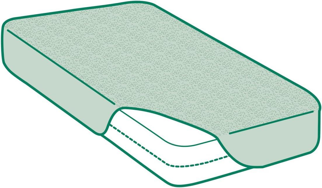 Prot/ège-Matelas /Éponge Bouclette 100/% Bambou Al/èse 80x190//200cm Imperm/éable et Respirante Savel Disponible en Plusieurs Dimensions