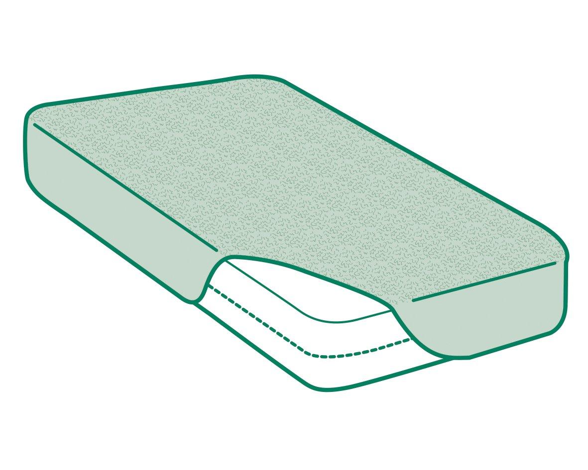 Barriera PU Impermeabile e antiacaro Coprimaterasso Singolo in Spugna di Cotone 100/% Impermeabile con Trattamento allolio di Argan |Pack da 2 Singolo 80x200cm Savel Regolabile
