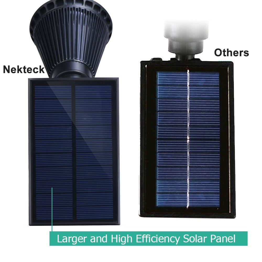 High output solar spot light - Amazon Com Nekteck Solar Powered Garden Spotlight Outdoor Spot Light For Walkways Landscaping Security Etc Ground Or Wall Mount Options 2 Pack