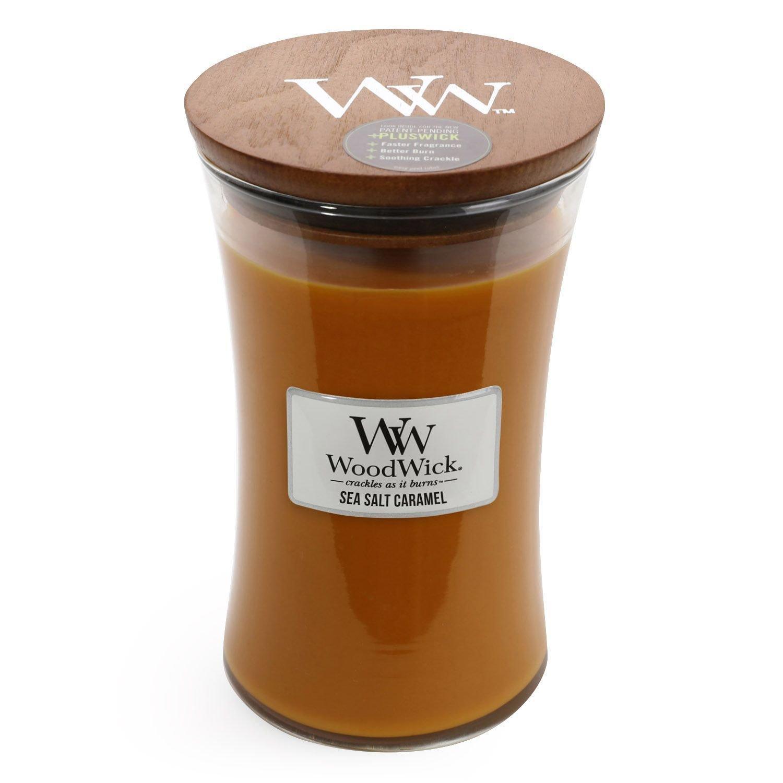 Woodwick Candle, Large, Sea Salt Caramel 93493