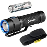 Olight S1A Baton Cree XM-L2 LED 600 Lumens Flashlight Variable-Output Side-Switch LED Flashlight With 1.5V AA Lithium Iron Battery and Skyben Holster