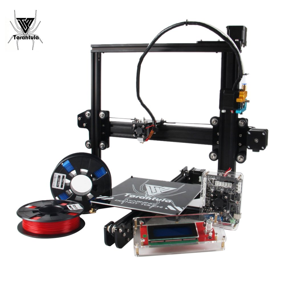 TEVO Tarantula I3 Aluminium Extrusion 3D Printer Kit Auto and Large Bed 3D Printing With Aibecy Cleaning Cloth 2 Rolls Filament 8GB Memory Card