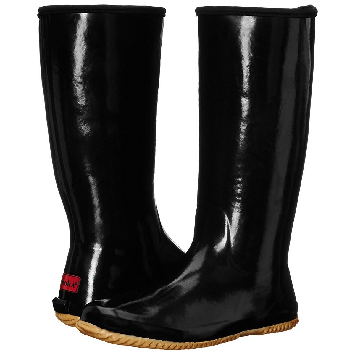 Chooka Women's Packable Rain Boot, Black, 9 M US