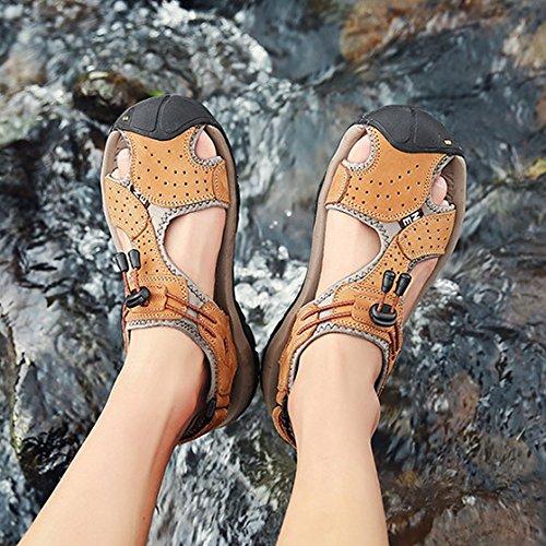 Infradito Hope Yellow Escursioni Sandali Scarpe Spiaggia Da Outdoor Trekking Sport Calzature Uomo Da Estive Scarpe In Comode Pelle qqArx1B5