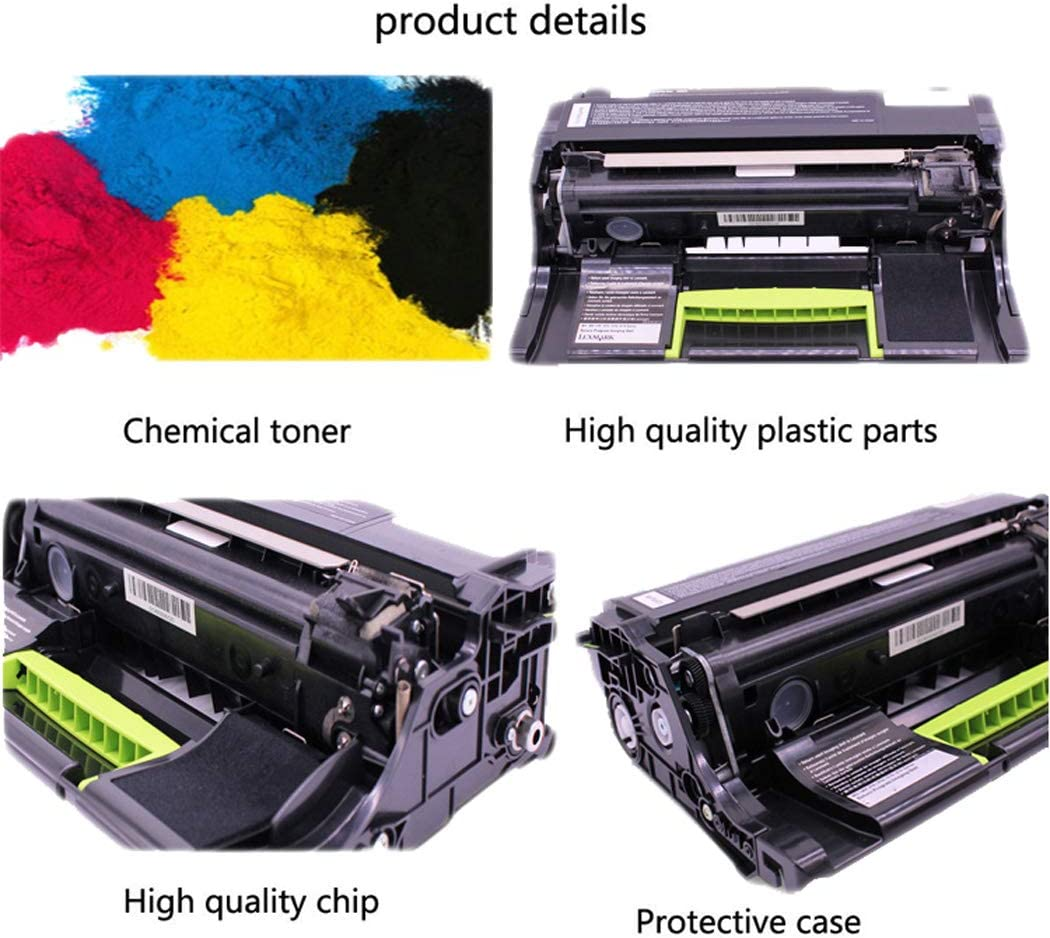 Compatible with Lexmark MS810 Toner Cartridge for MS710 711 MS811n MS812de Drum Rack Lexmark 52D3HOE Black