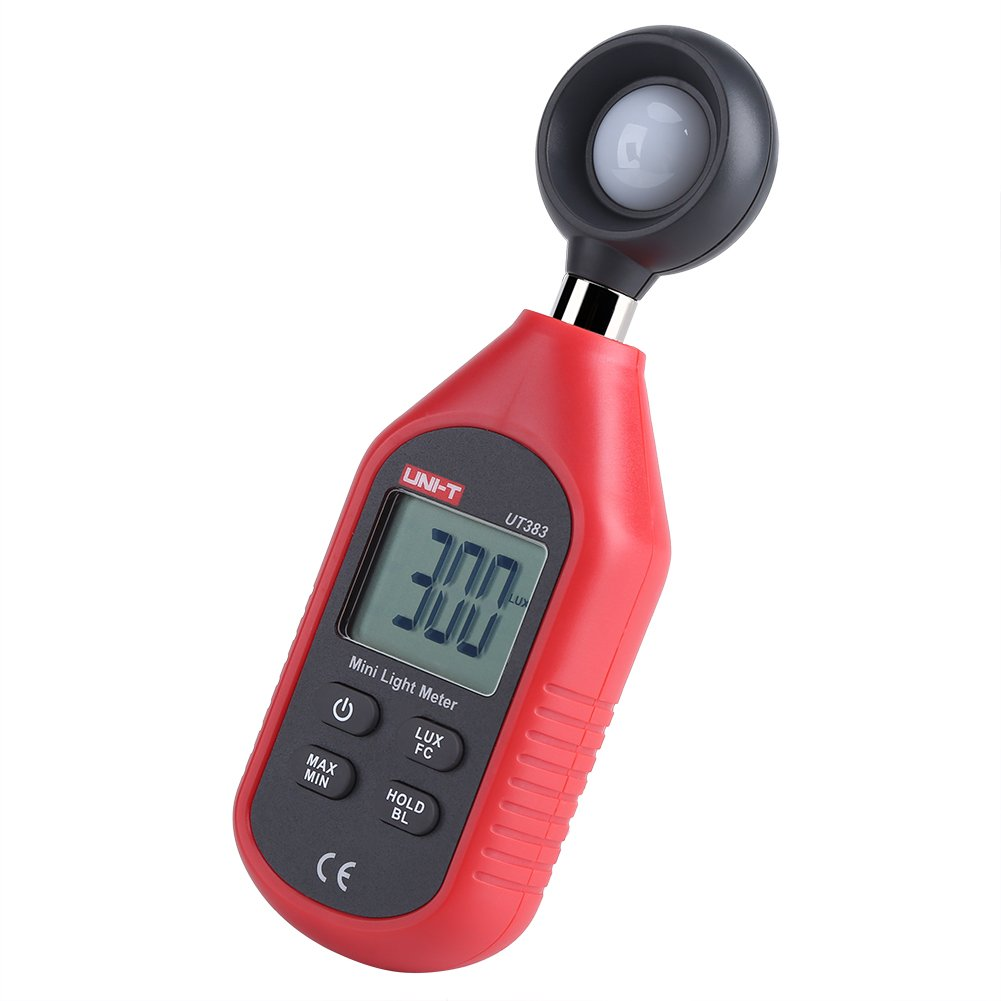 Fdit Digital Luxmeter & Digital Illuminance Light Meter with LCD Display High Accuracy LUX/FC Data Hold