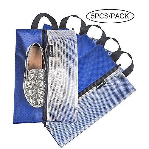 Lermende Travel Shoe Bags Waterproof Nylon Organizer Storage Tote Pouch 5pcs