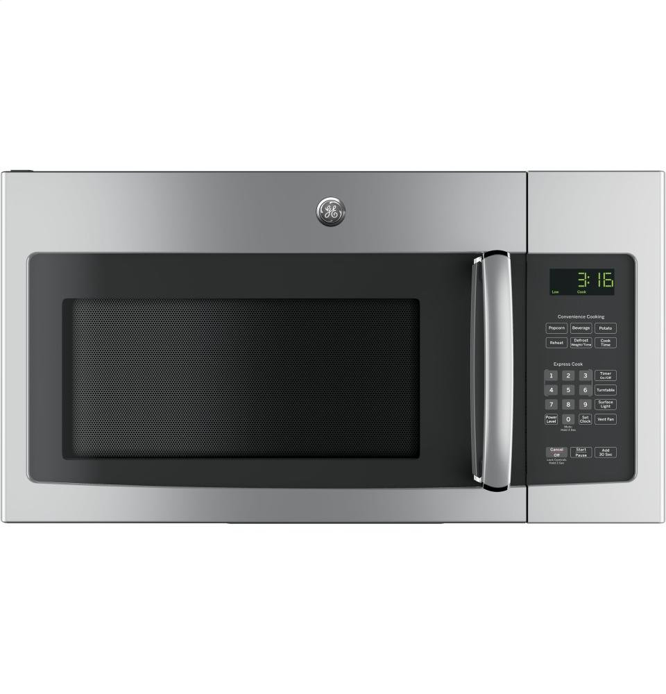 GE JVM3162RJSS 30'' 120 Volts 1.6 cu. ft. Capacity Over the Range Microwave with Convertible Venting and 1000 Watts in Stainlesss Steel by GE