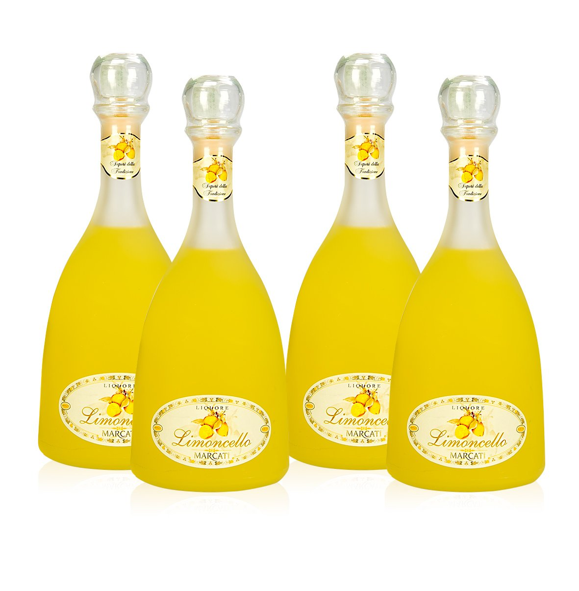 Limoncello of Sorrento Marcati Gagliano (Pack 4 Satin Finish Bottles)