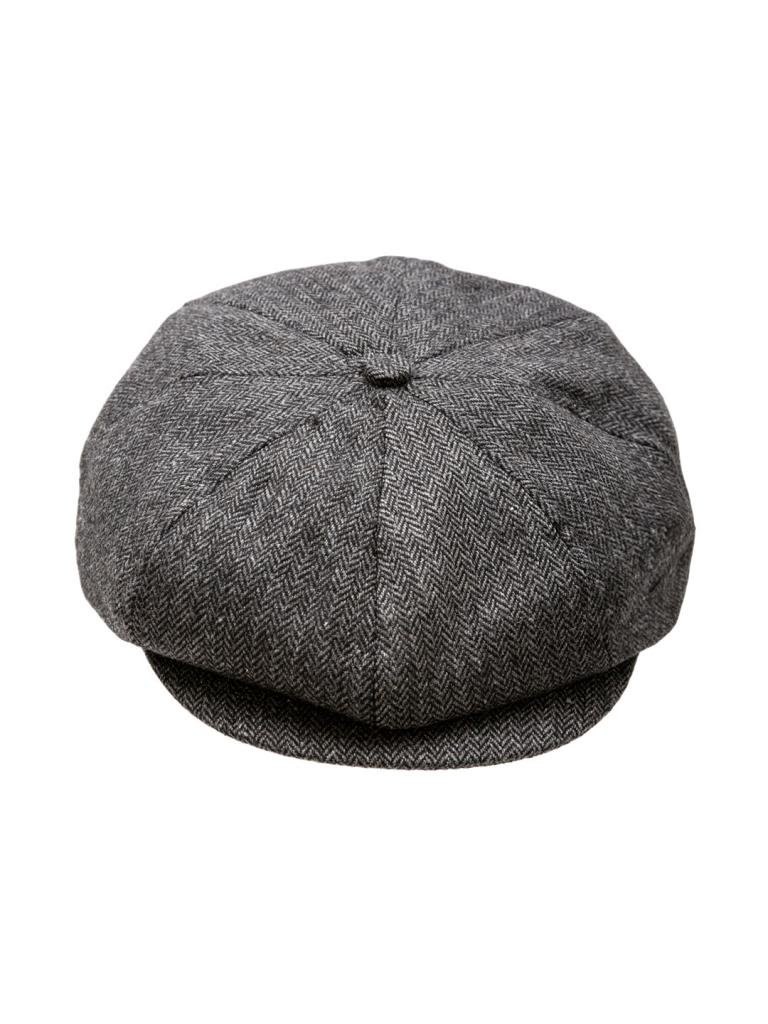 Born to Love Boy's Newsboy Cap-Black And Gray- XL(6-8 yrs 56 CM) by Born to Love (Image #2)