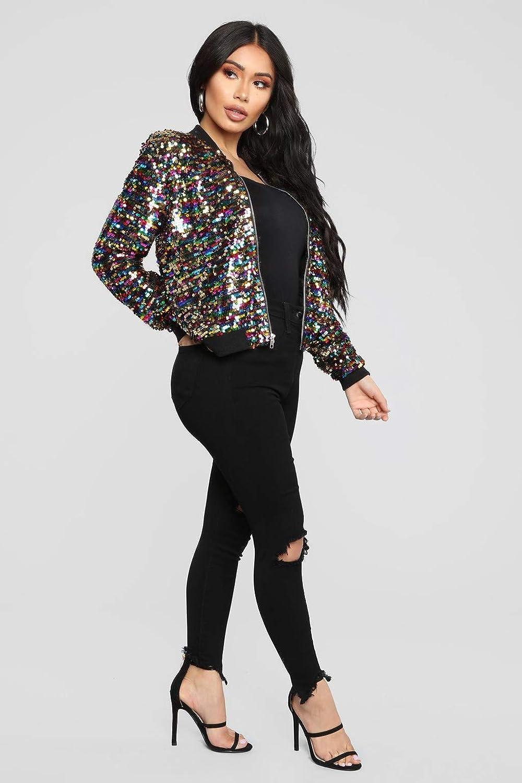 d3a69ef474a Amazon.com  Hemlock Sequin Jacket Tops Women Bling Coat Suit Tops Party  Short Jacket Crop Coats Sequin Pullover Blouse Shirts  Clothing