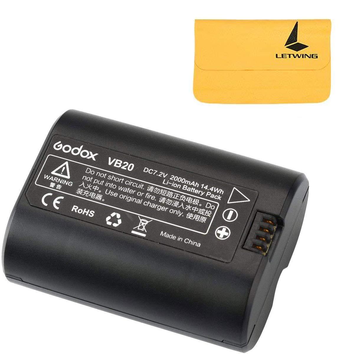 Godox VB20 Li-ion Battery for Godox V350S V350F V350N V350O V350C Camera Flash