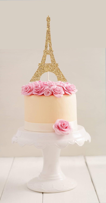 qidushop Eiffel Torre Decoración para tarta de París ...