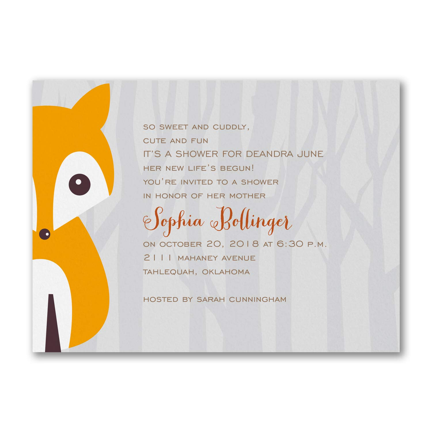 325pk Alphabet Fox - Baby Shower Invitation-Baby Shower Invitations